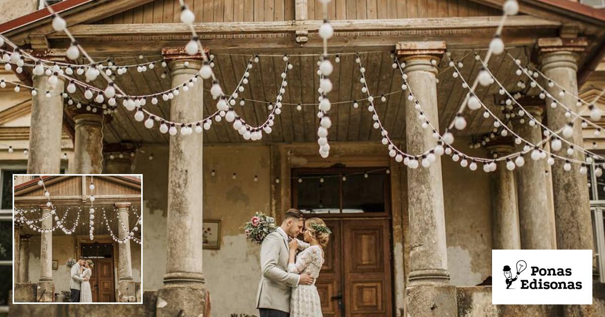 Lempučių girliandų nuoma vestuvėms ir kt. šventėms.
