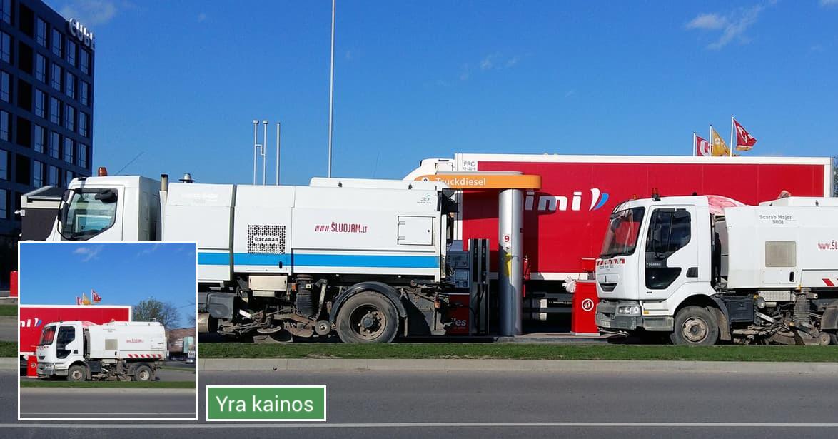 Teritorijų tvarkymas, mechanizuotas šlavimas Kaune
