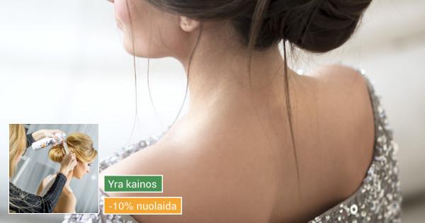 Šukuosenų dizainerės paslaugos proginių šukuosenų formavimas