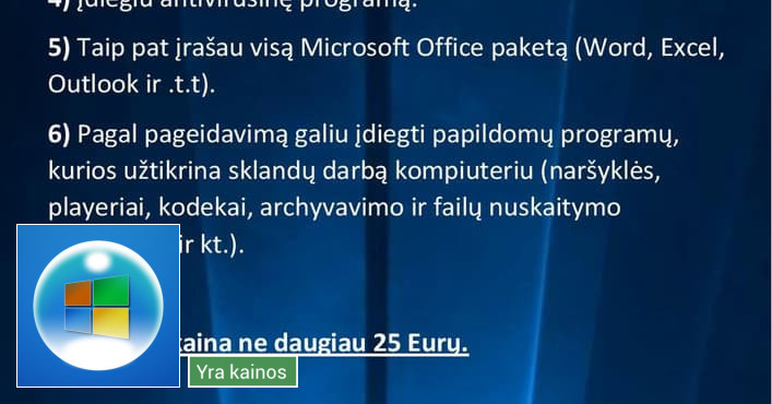 Windows perrašymas, virusų naikinimas