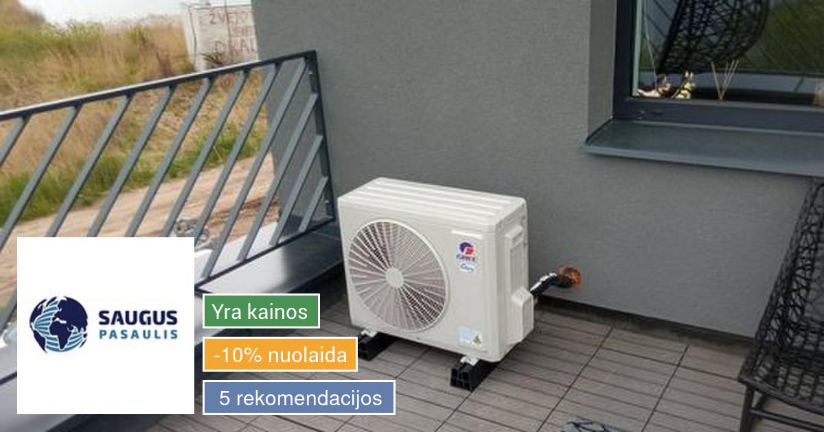Šildymo, ventiliacijos, kondicionavimo įranga ir montavimas