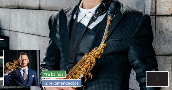 Saksofonistas, muzikantas, muzikos grupė ir dj