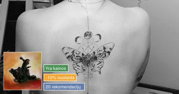 Įšskirtinio dizaino bei kokybės fotorealistinės tatuiruotės